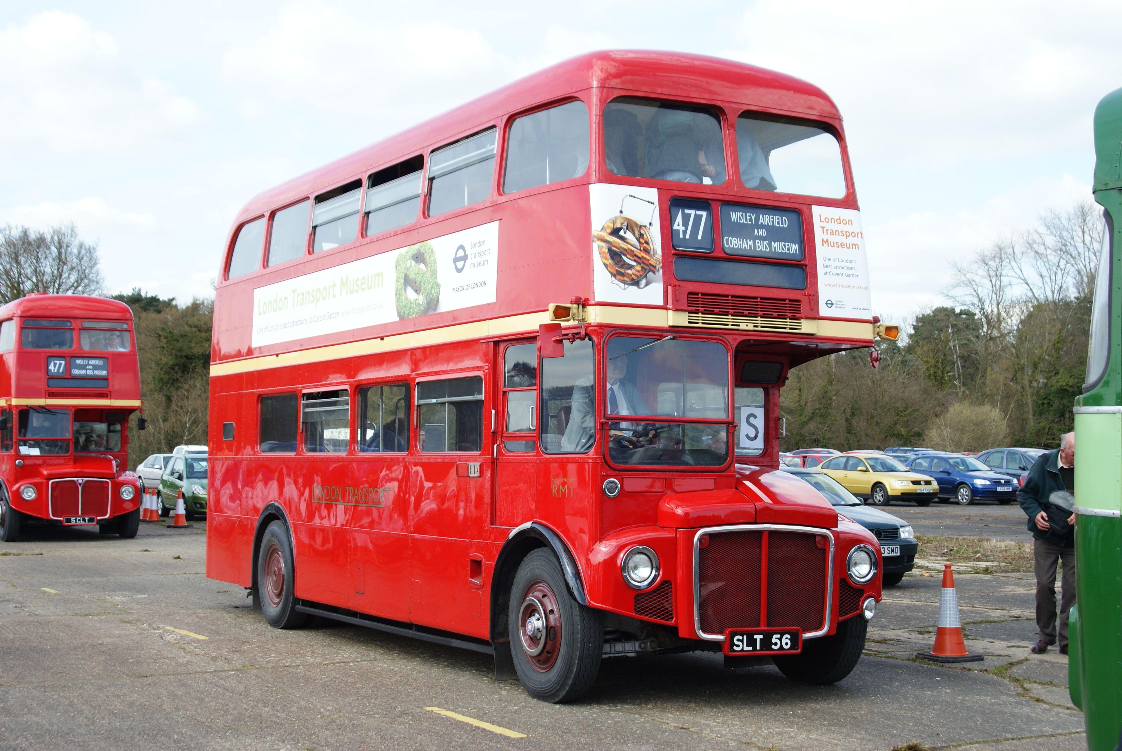 File:London Transport Museum Routemaster prototype RM1 (SLT 56), 2010 Cobham bus rally (1 ...