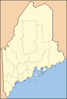 Biddeford, Maine на мапи Maine