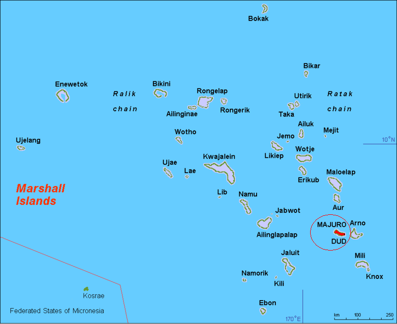Majuro locator map