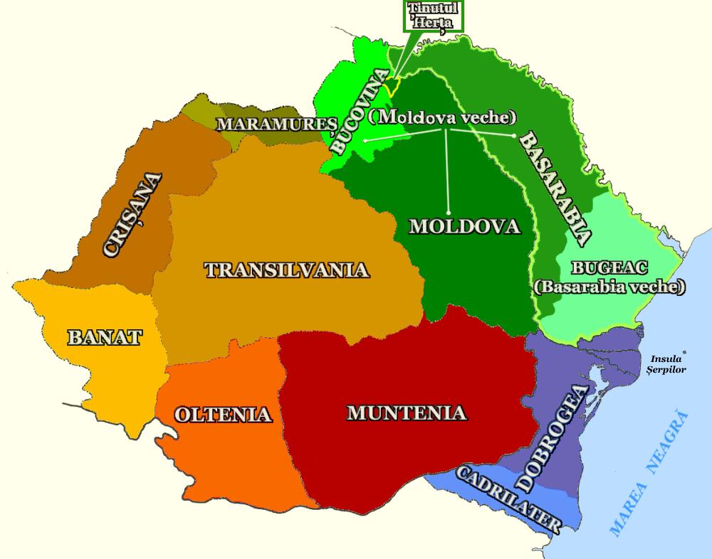 Romania#39;s Regional Map.