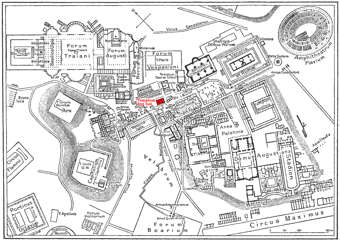 FileMap Of Downtown Rome During The Roman Empire Large Temple - Map of rome under caesar