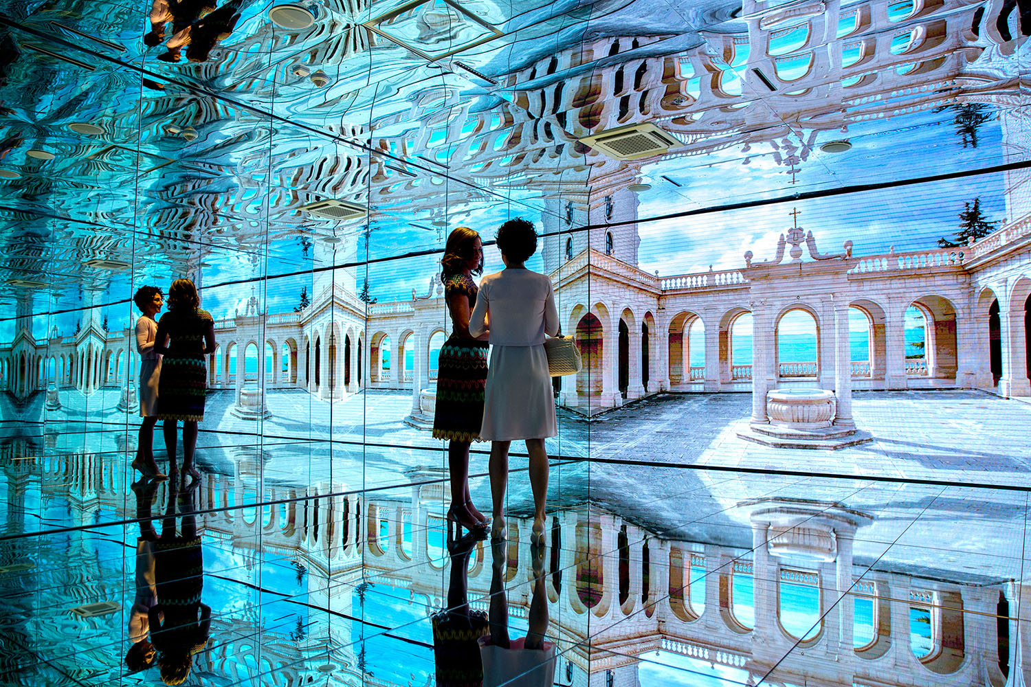 File Michelle Obama and Agnese Landini tour the Mirror Room in the Italian  Pavilion at. File Michelle Obama and Agnese Landini tour the Mirror Room in the