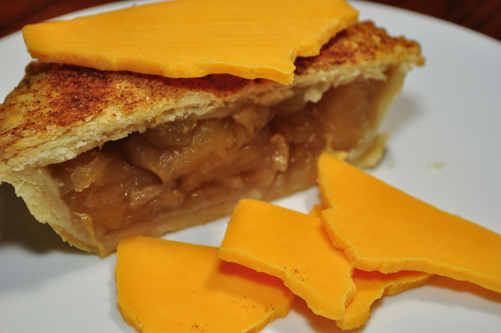 apple pie and cheddar cheese