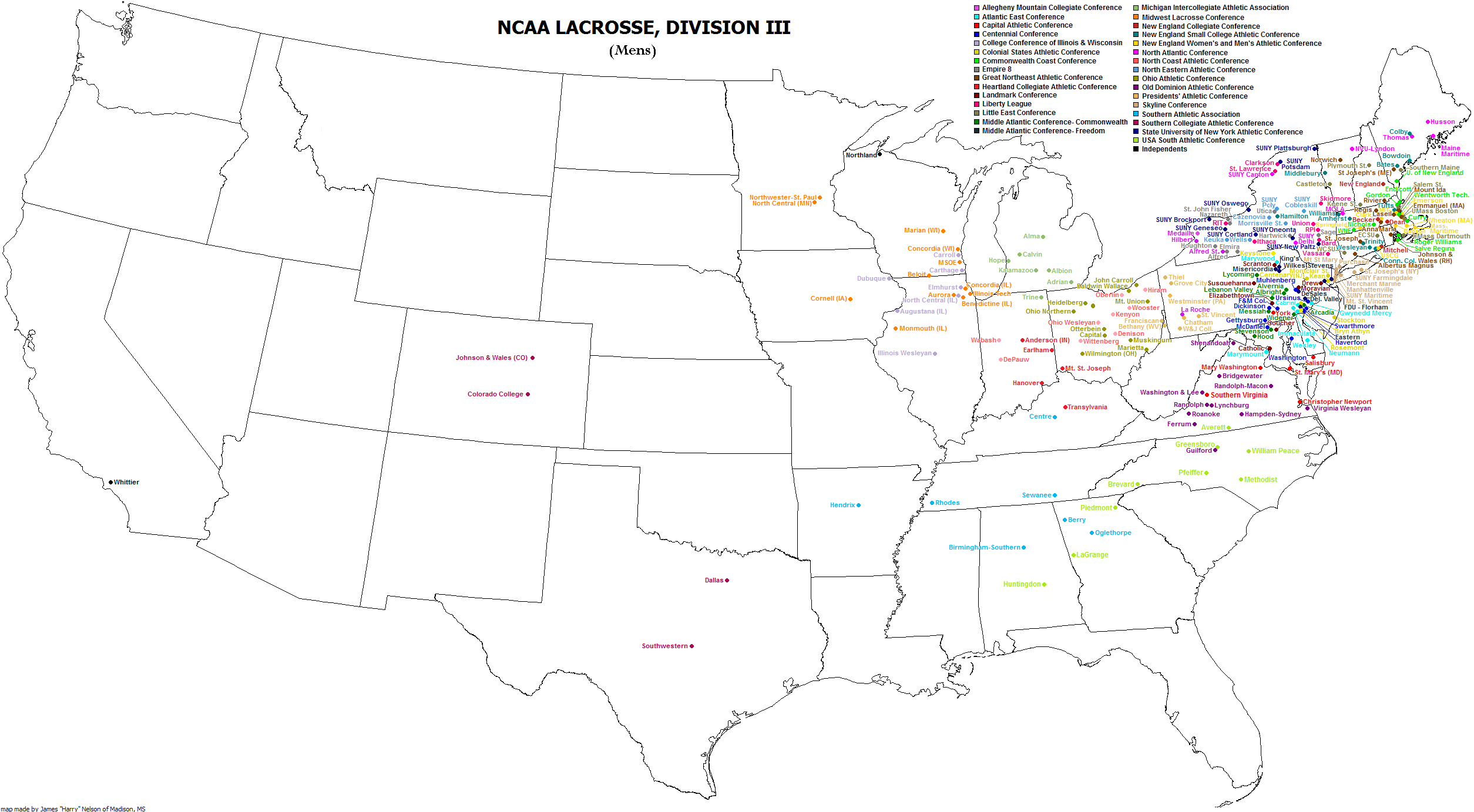 File:NCAA Division III men\'s lacrosse map.png - Wikimedia Commons