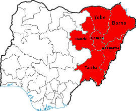 map of nigeria showing states with File Northeastern State Nigeria on Renewable Energy Potential in addition Documentation Characterisation And Utilisation Of Clay Minerals In Kaduna State Nigeria in addition Cities Map additionally Cities Map together with Nigeria Tragico Balance Del Terrorismo De Boko Haram.