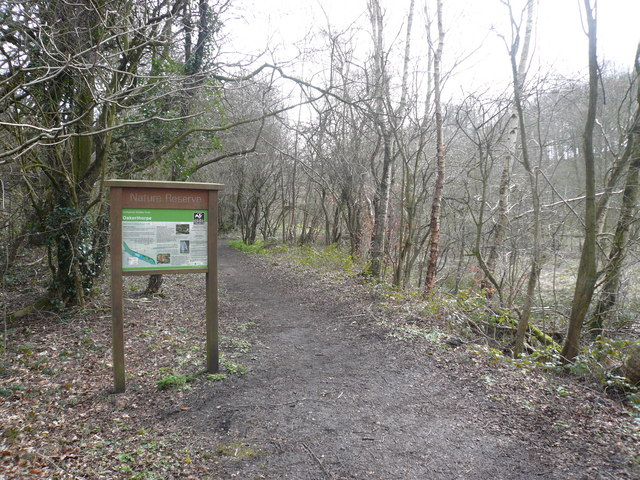 Oakerthorpe Nature Reserve - Footpath and Sign - geograph.org.uk - 725083