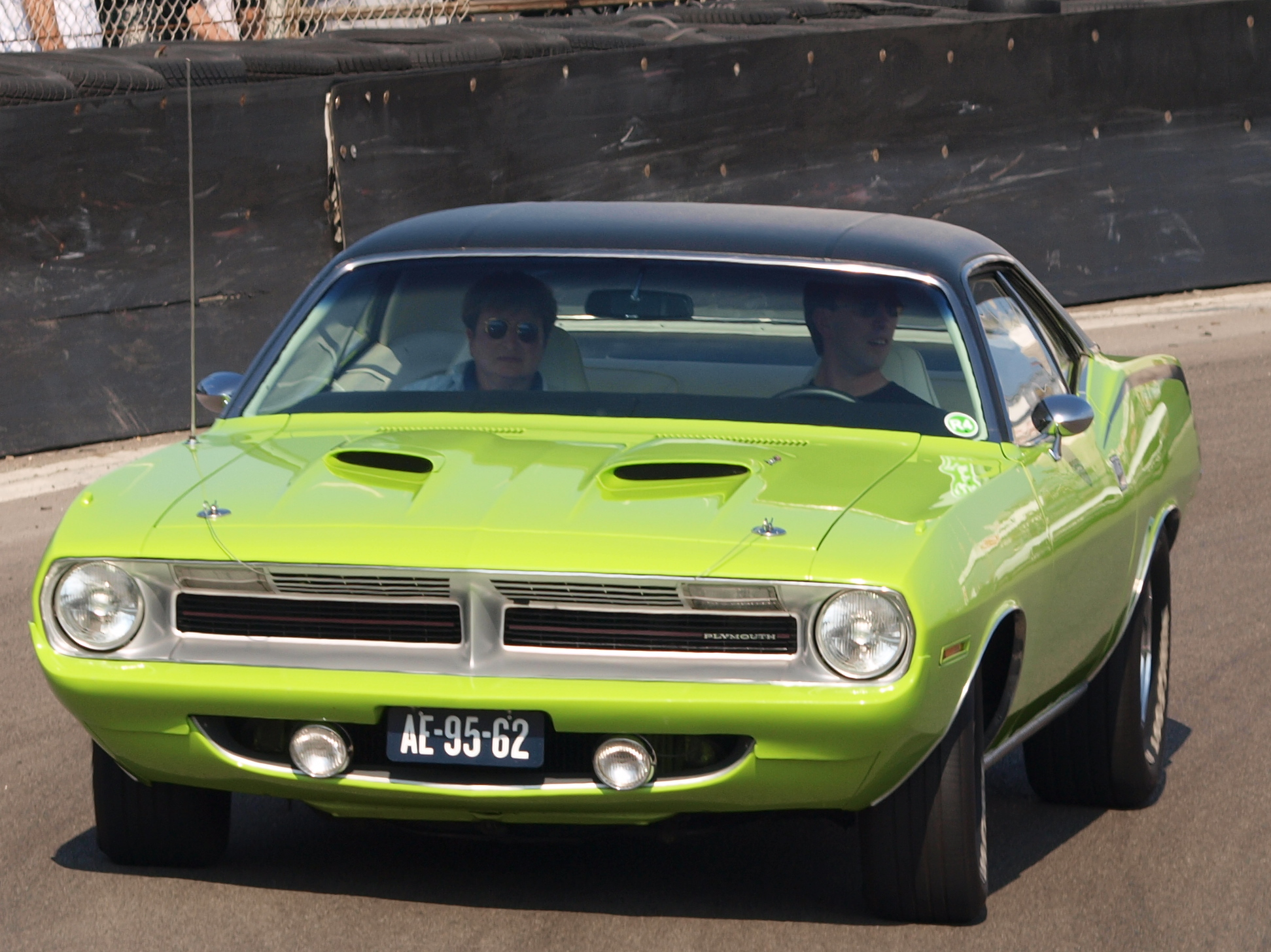 Just A Car Guy: Barracuda and a Challenger, Cragars and Keystone ...