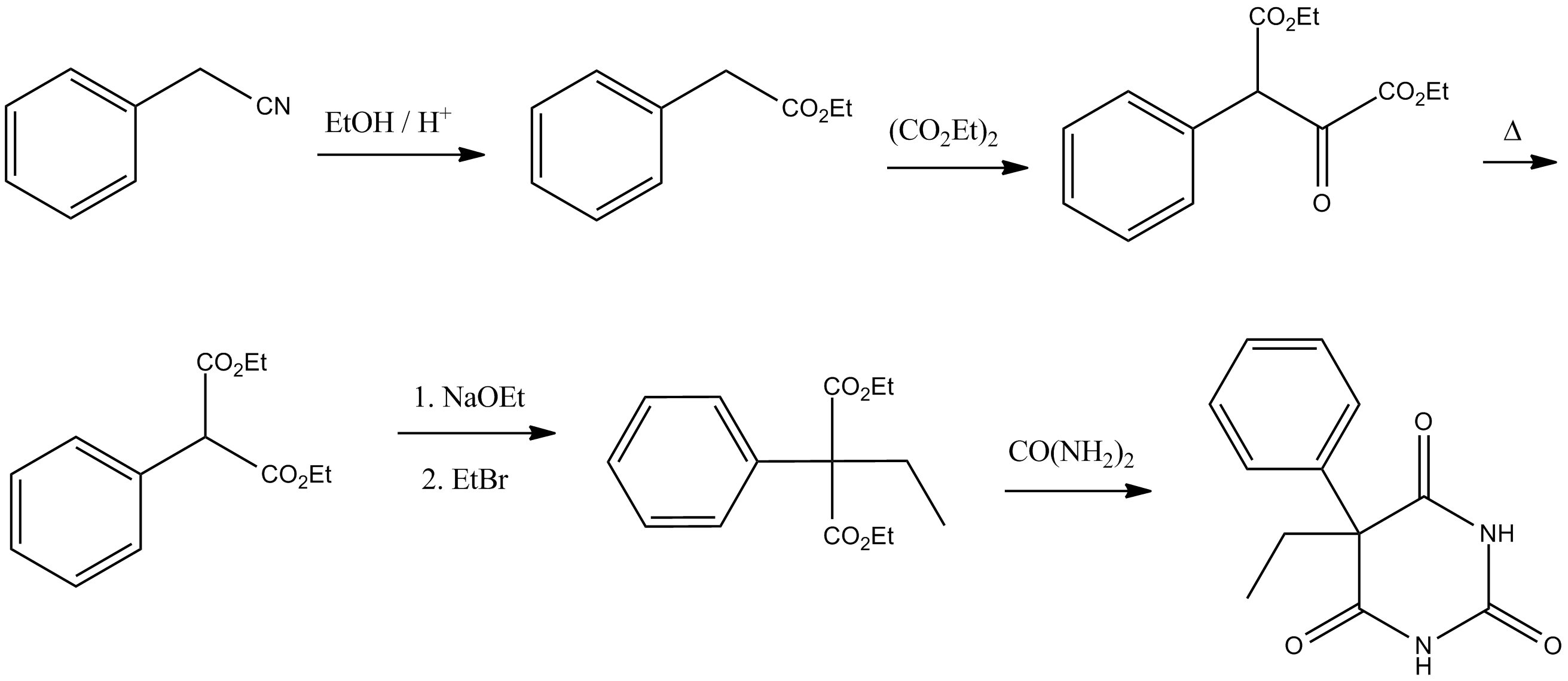 File:Phenobarbital synthesis.png - Wikimedia Commons