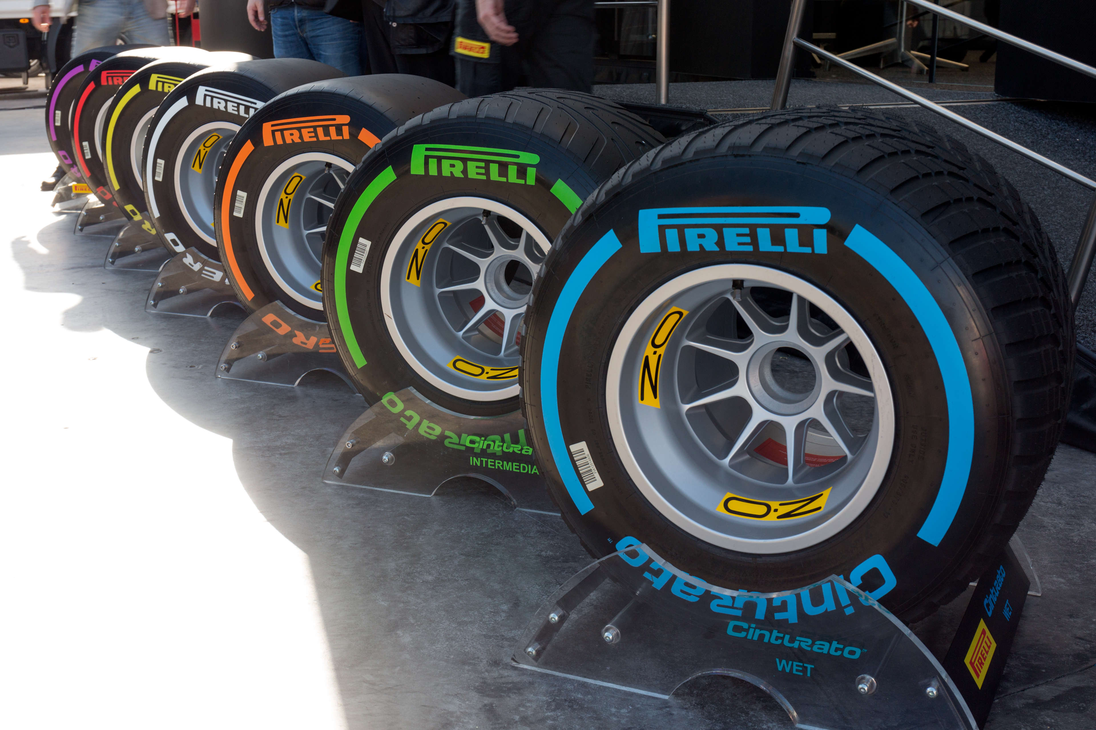 Le gomme fornite dalla Pirelli nel Campionato mondiale di Formula 1 2017