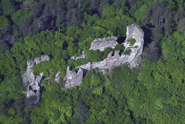 A vár légifotója