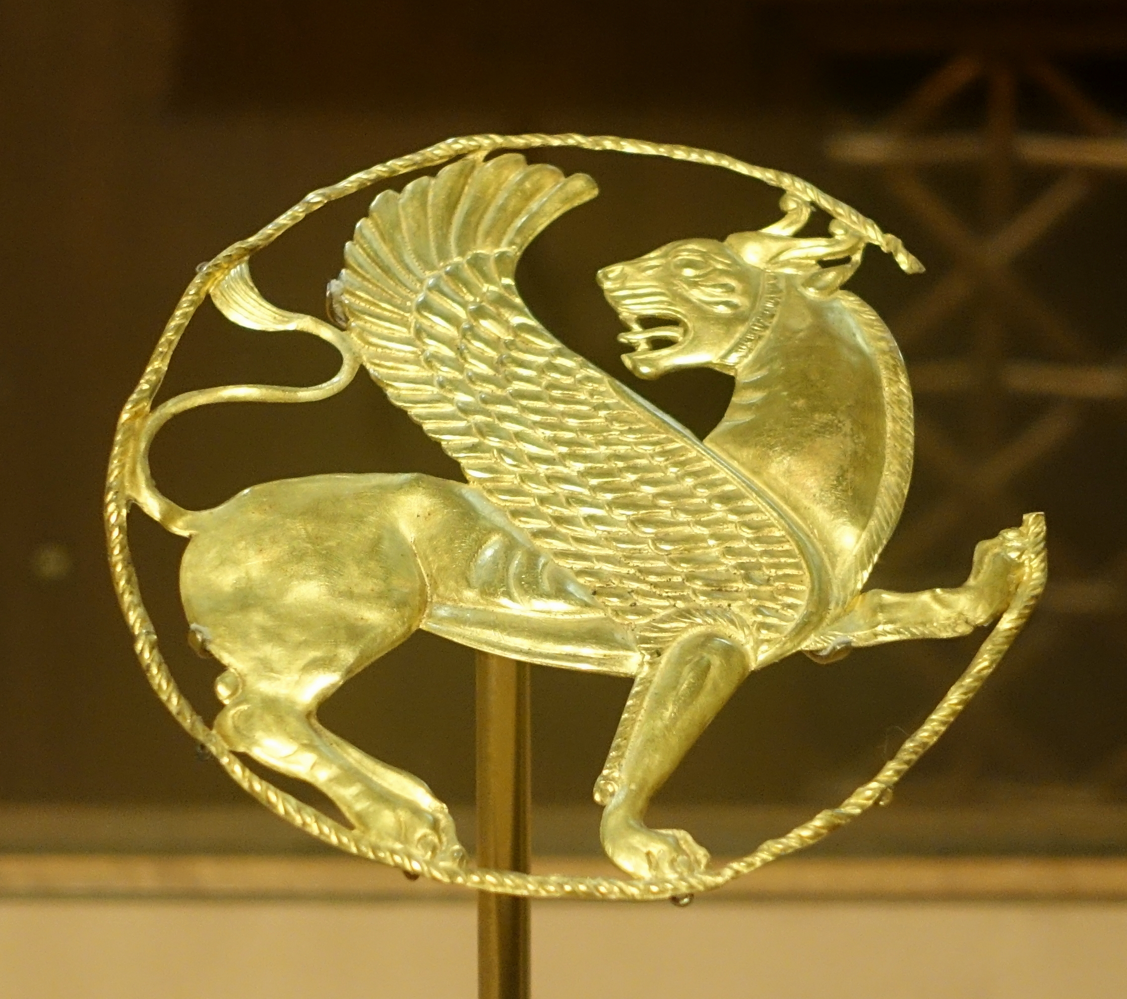 File Roundel With Winged Lion Achaemenid Gold Said To