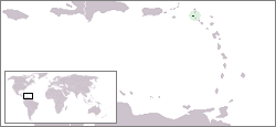 Location of Saba