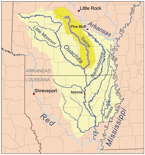 Saline River Ouachita River Wikipedia - Arkansas river map