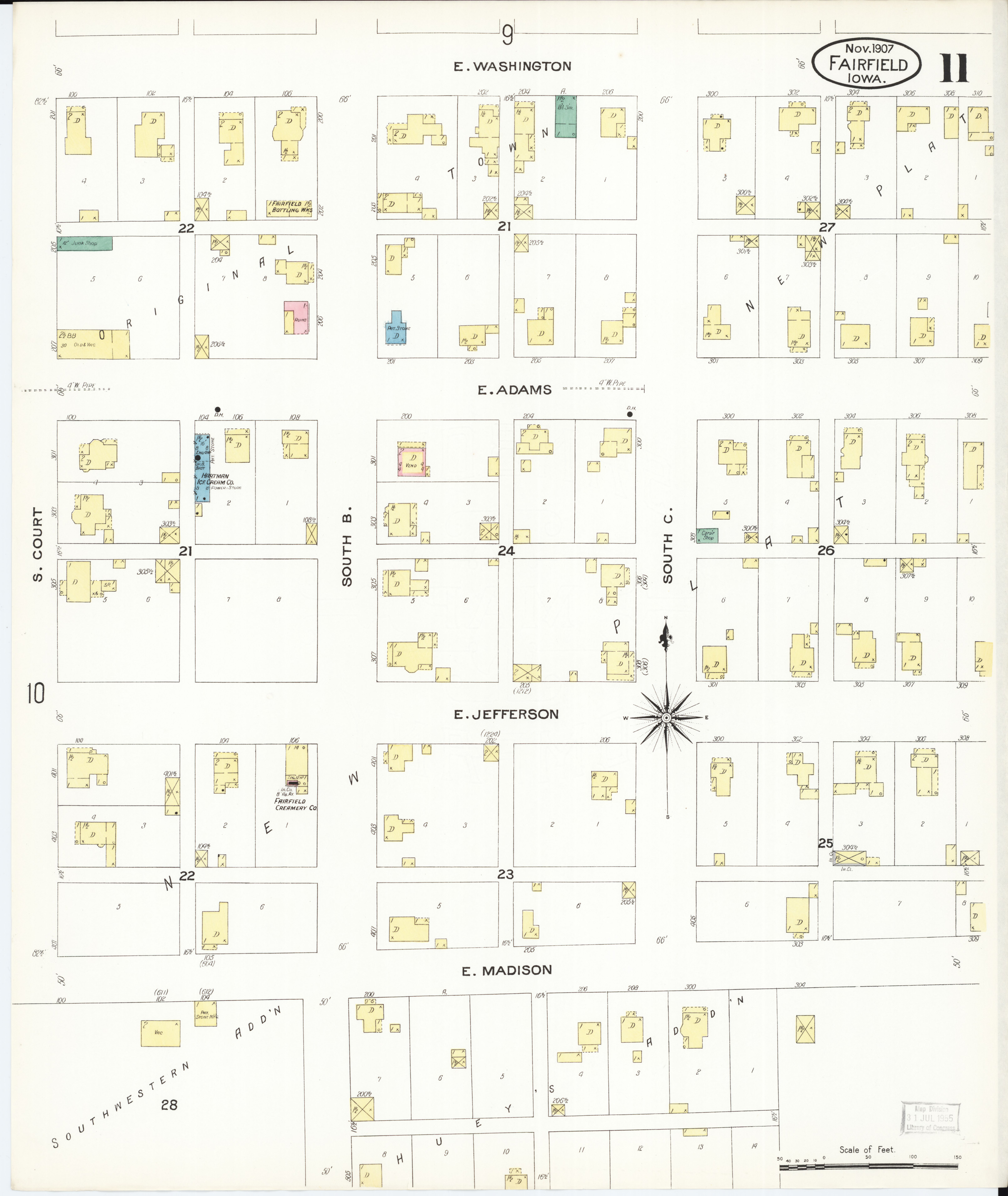 Jefferson County Iowa Map.File Sanborn Fire Insurance Map From Fairfield Jefferson County