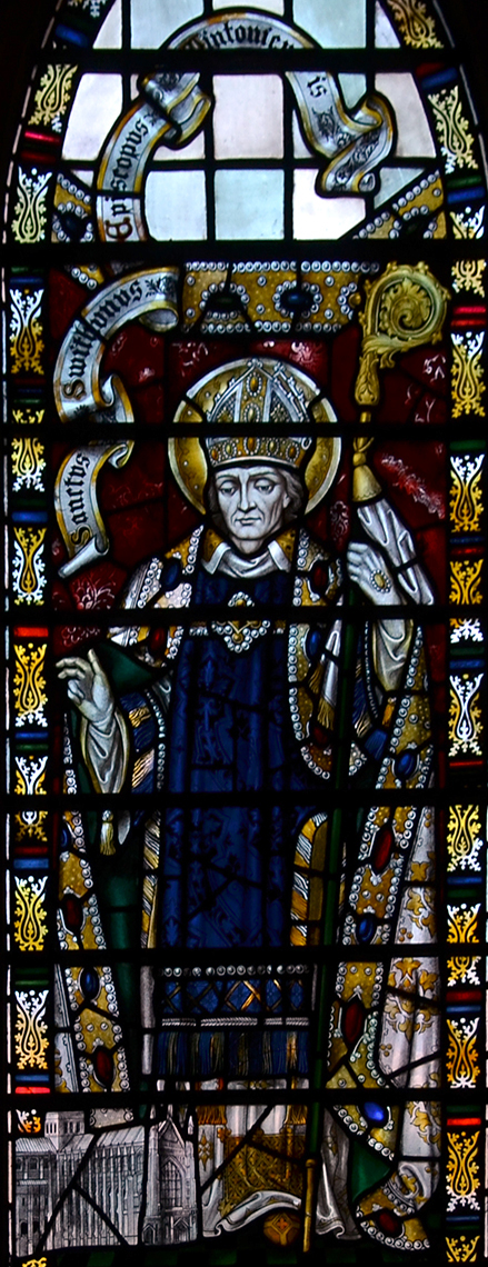 Southwark Cathedral stained glass windows Saint Swithun 01082013 22.jpg