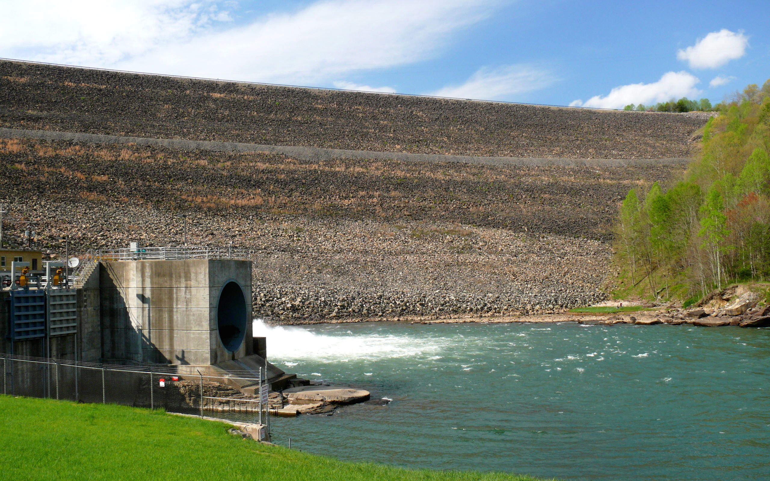 Rock filled dams for Wv fish stocking