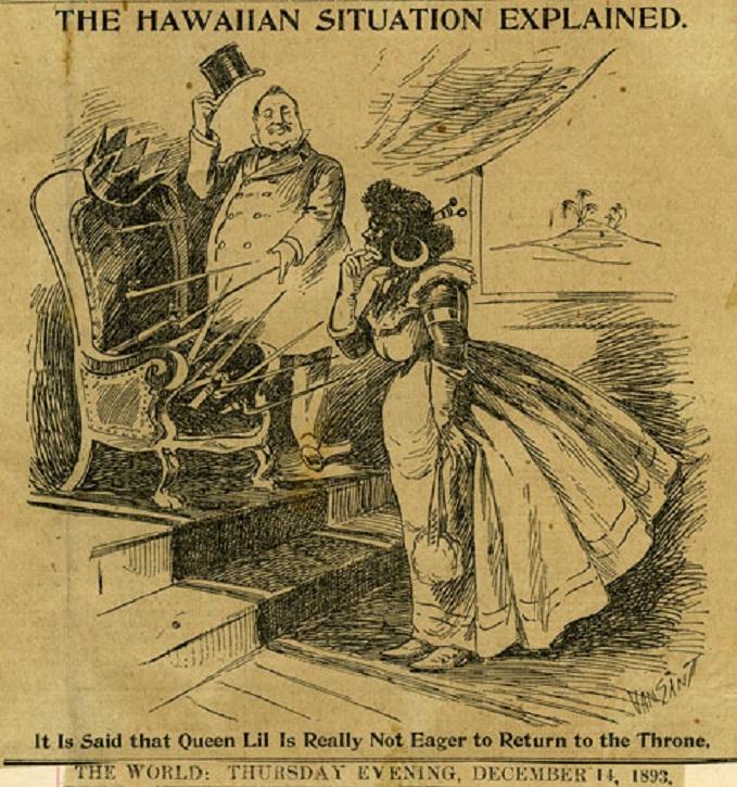 Description The Hawaiian Situation Explained political cartoon jpgQueen Liliuokalani Political Cartoon