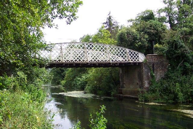 The bridge at Santon Downham, nr Thetford, Norfolk - geograph.org.uk - 40509