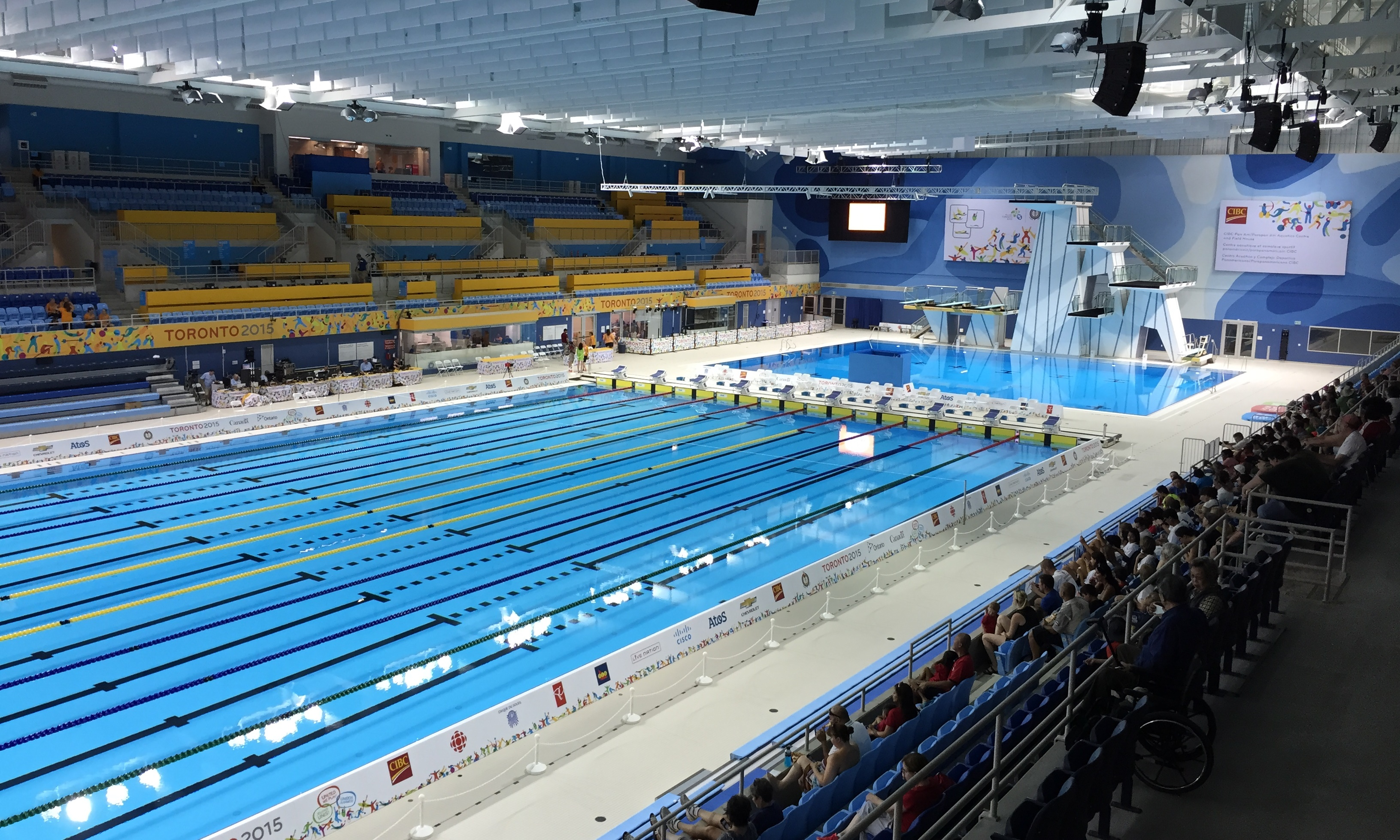 Toronto Pan Am Sports Centre Wikiwand. Beijing China 14 September 2015  People Visit The Olympic Swimming Pool ...