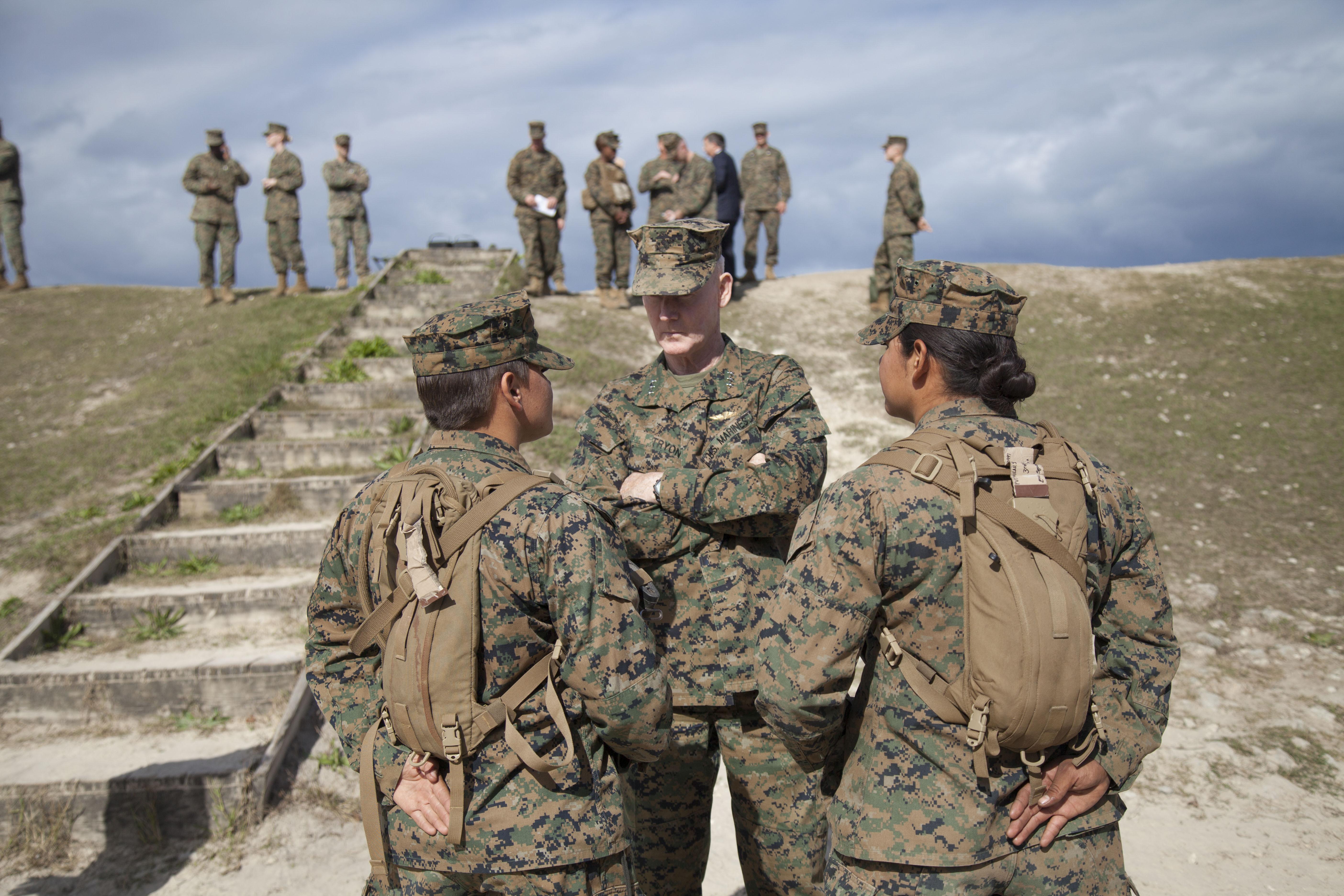 File:U.S. Marine Corps Lt. Gen. Richard T. Tryon, commander, U.S. ...