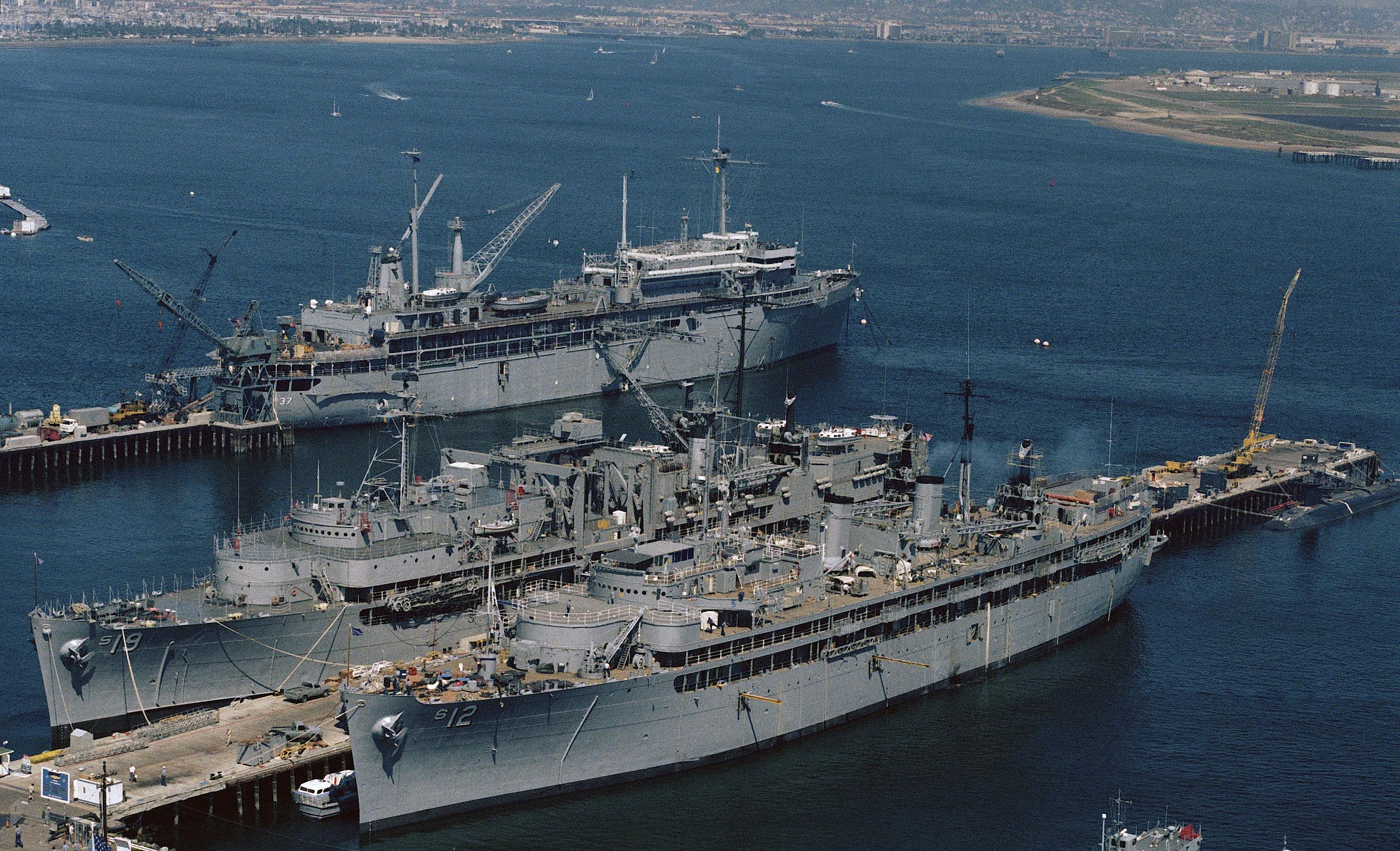 US Naval Ship USN Navy Photo Print USS DIXON AS 37