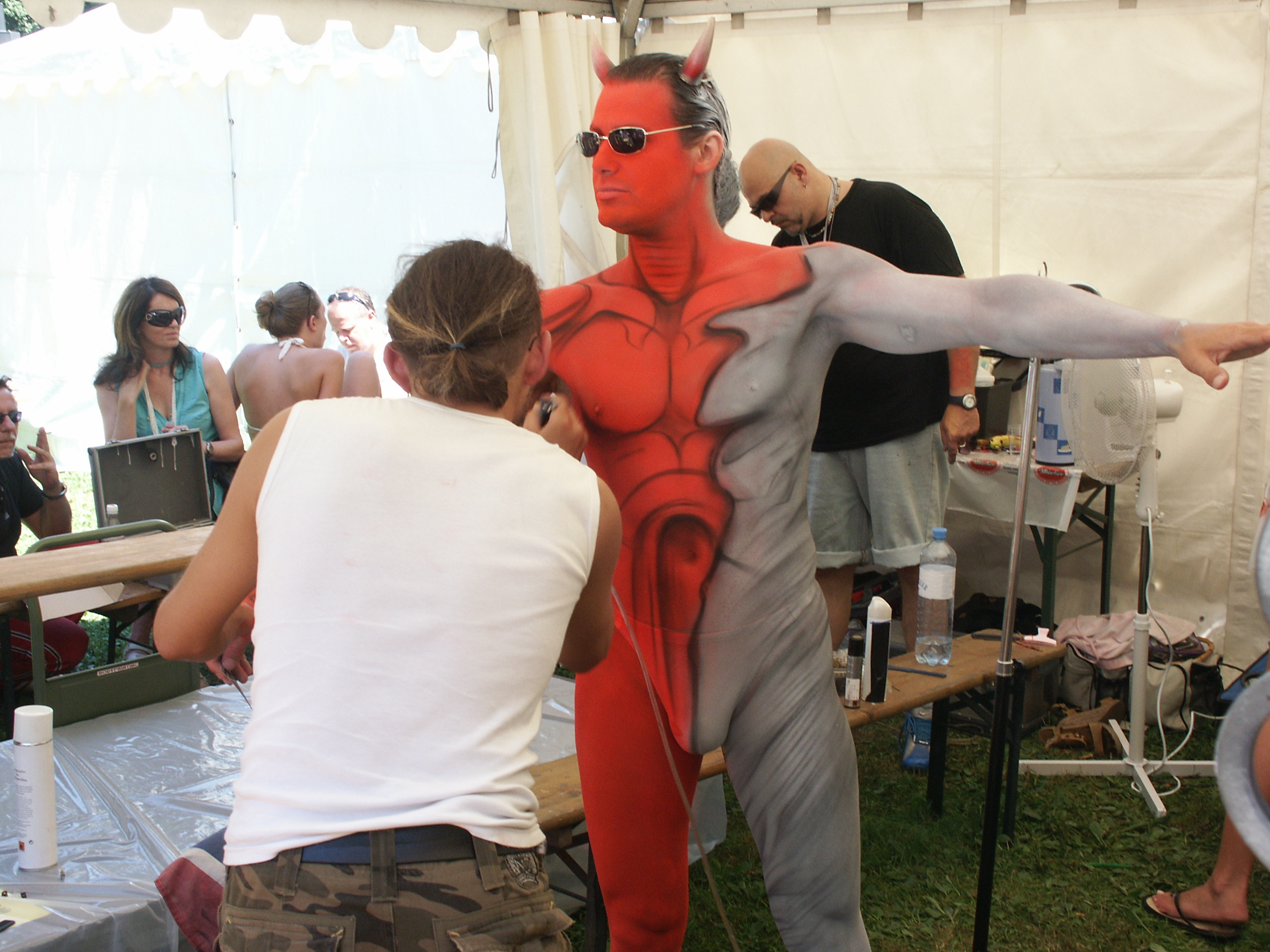 Remarkable, Male body painting not