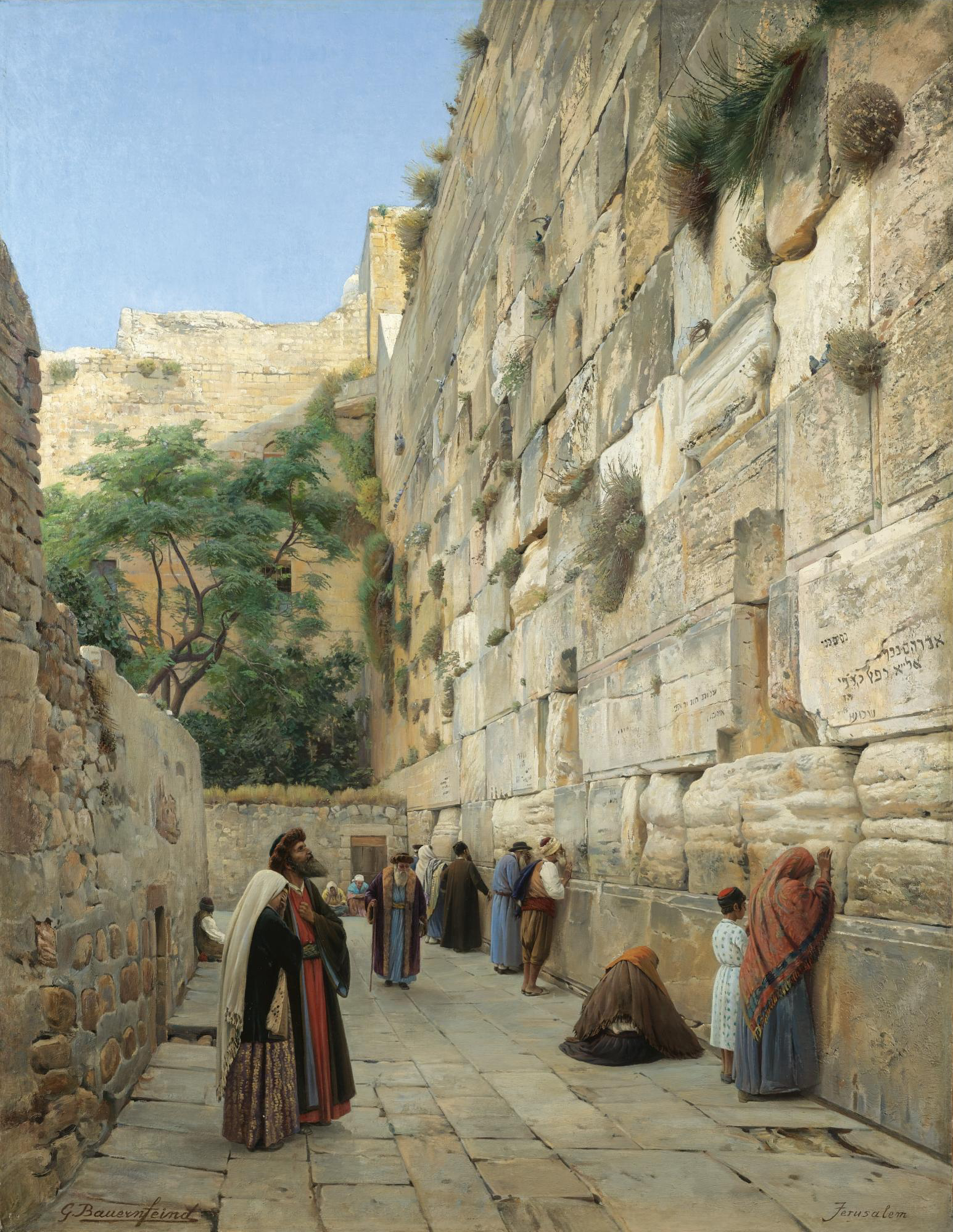 The Wailing Wall, Jerusalem [Gustav Bauernfeind, 1848-1904]