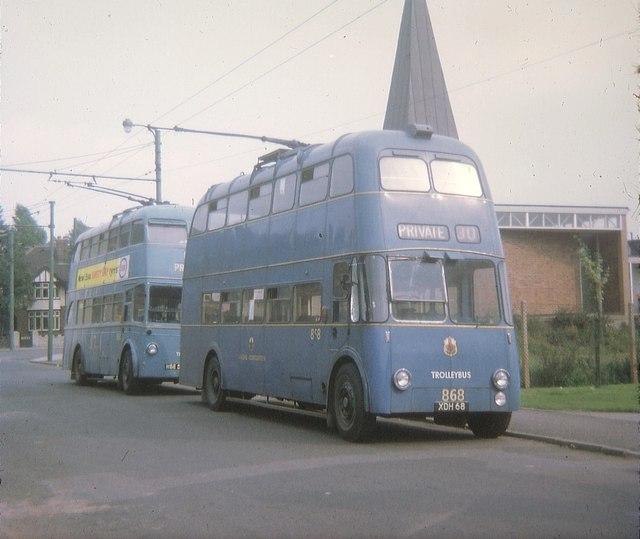 File:Walsall trolleybuses in Carl Street - geograph.org.uk - 1614231.jpg