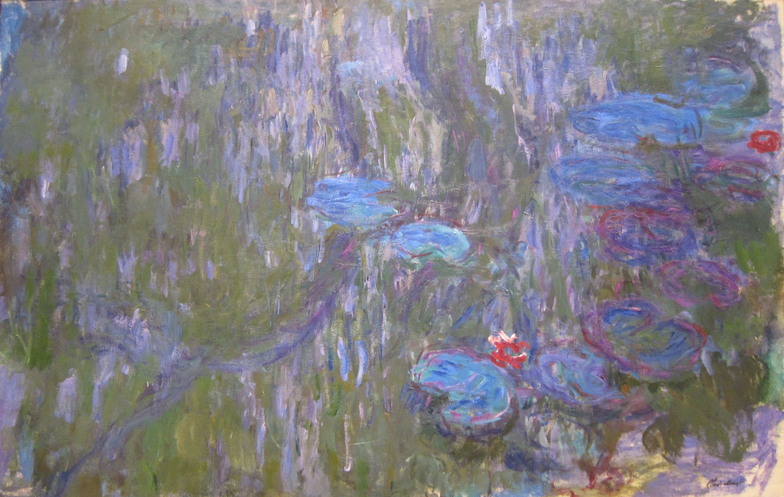 File water lilies reflections of weeping willows by claude monet c