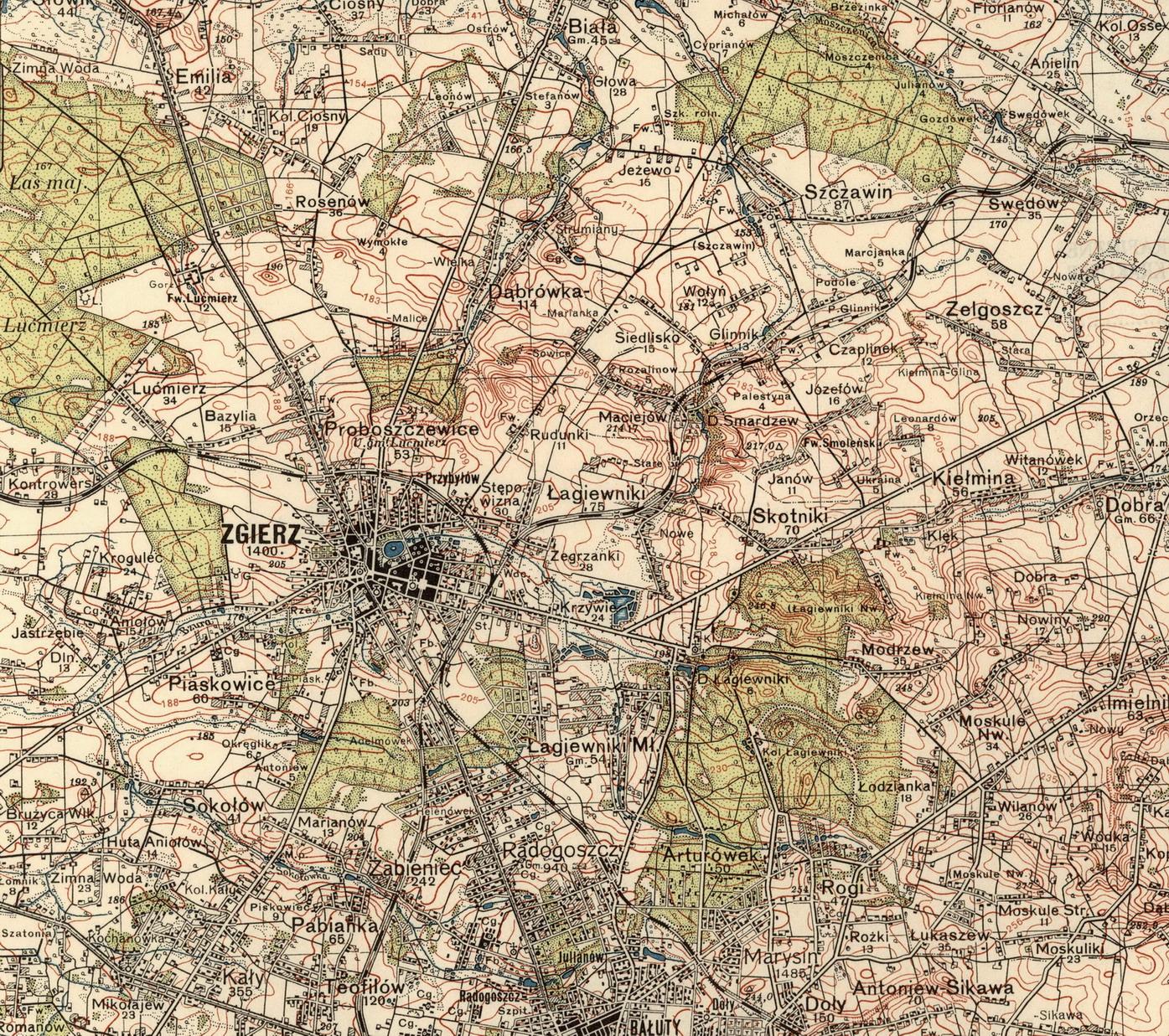 File Zgierz Mapa Wojskowa 1937 Jpg Wikimedia Commons