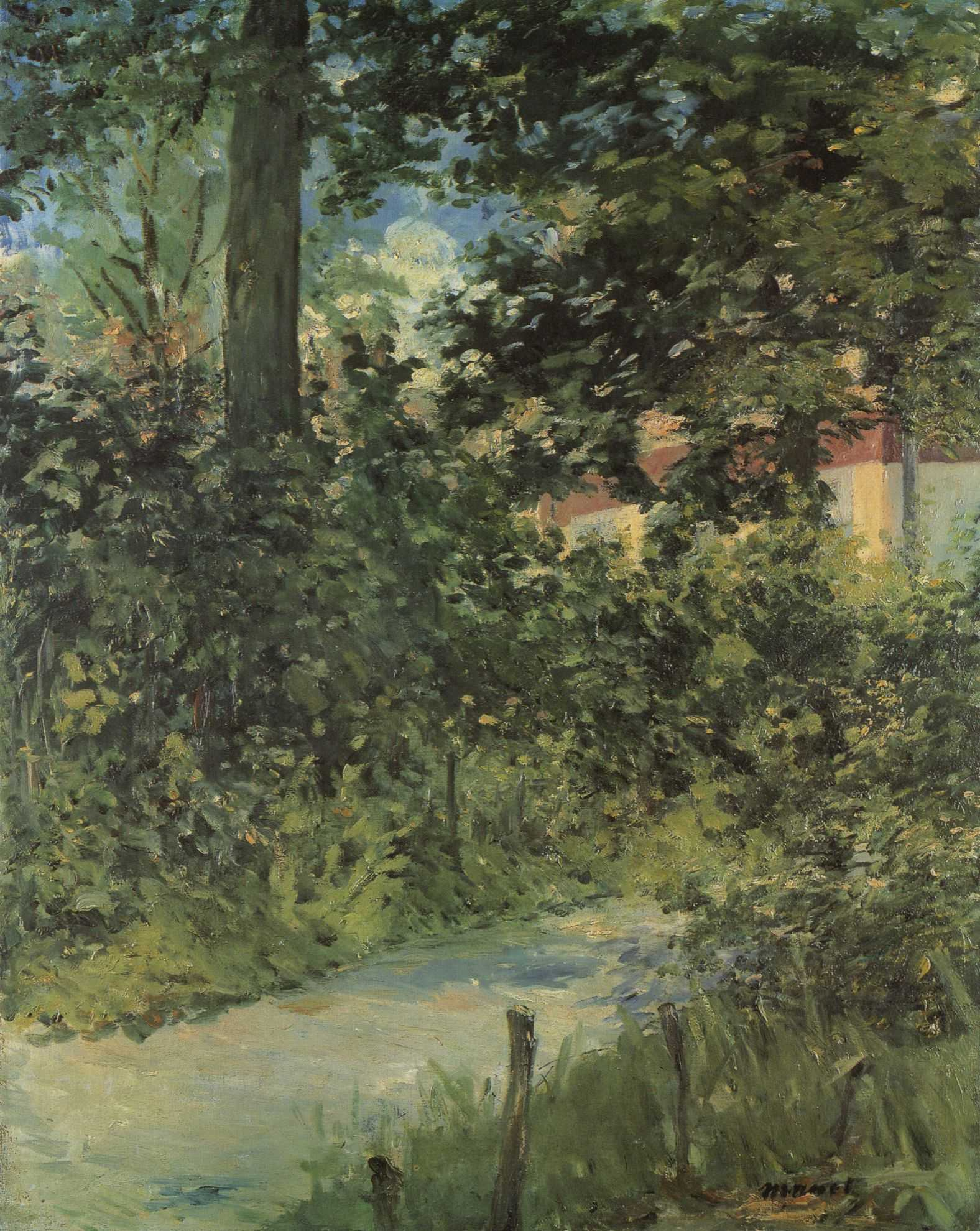 File édouard Manet Une allée de jardin de Rueil RW 402