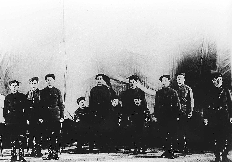 El conjunto Aleksándrov en 1928-1929.