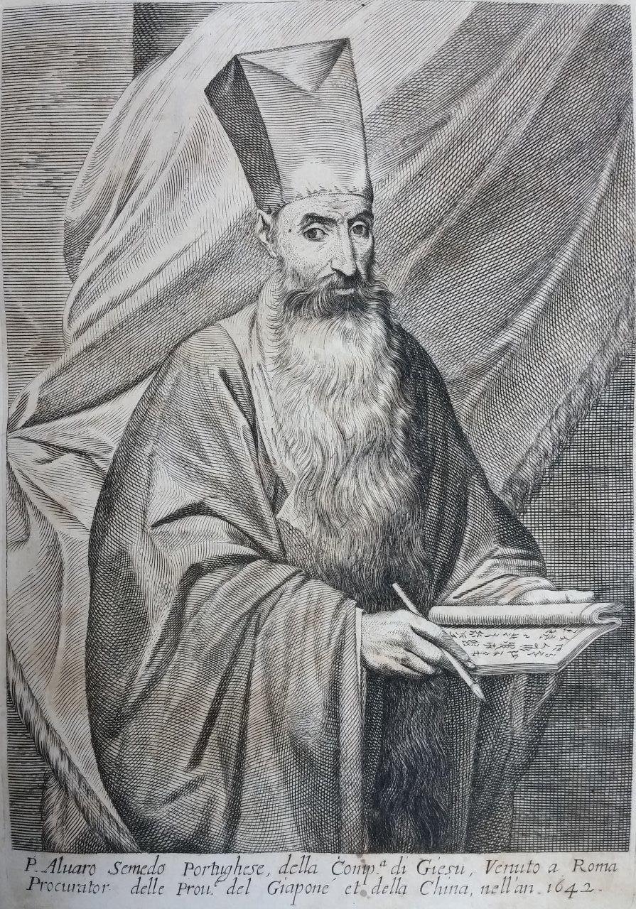 1642 depiction of Álvaro de Semedo (from ''Historica Relatione del Gran Regno Della Cina'' published 1653)