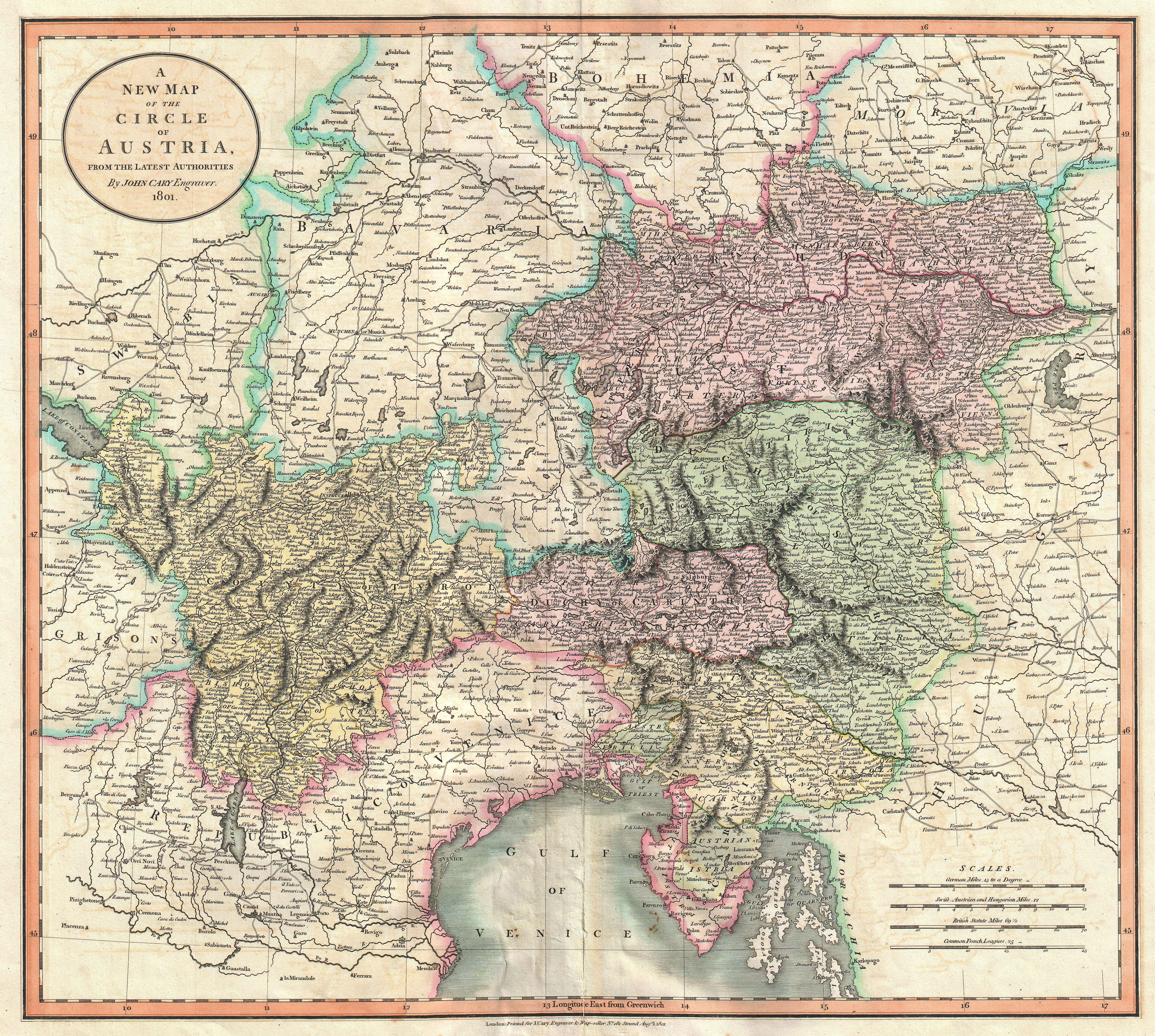 file 1801 cary map of austria geographicus austria cary 1801