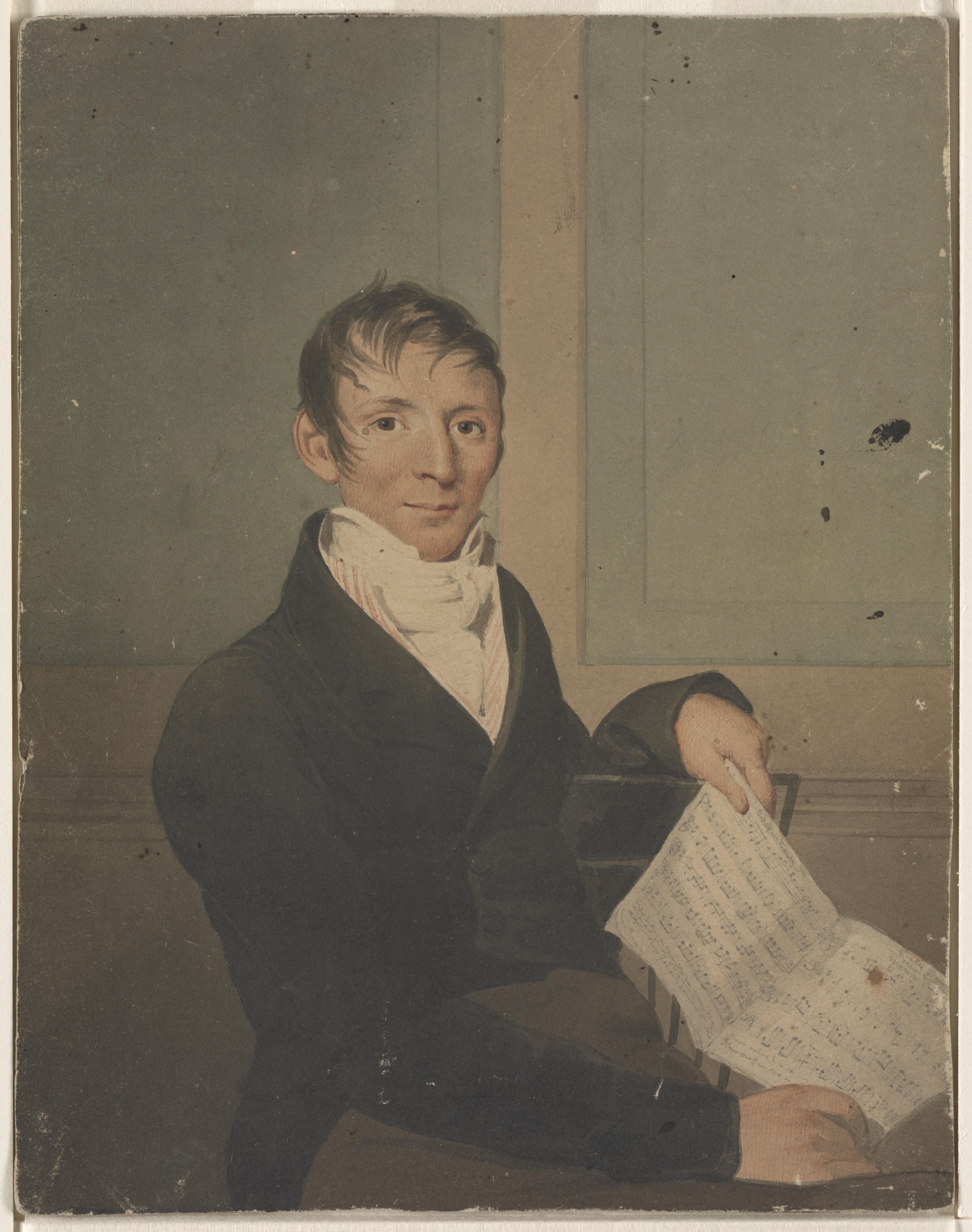 Portrait of Gottlieb Graupner by John Rubens Smith, 1809 (Library of Congress)