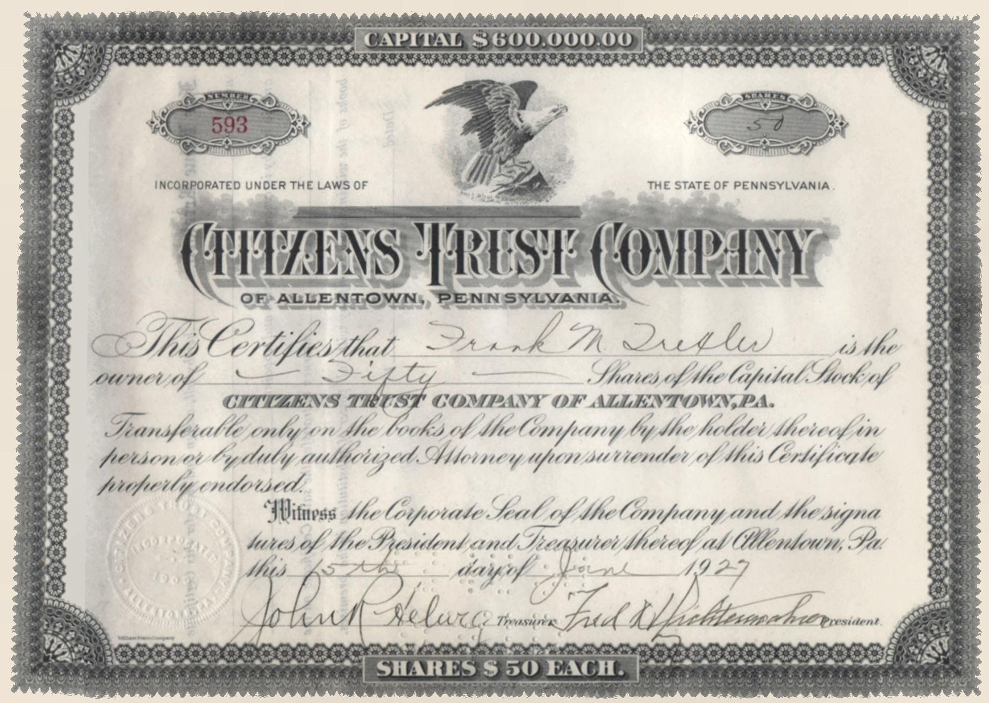 File1927 citizens trust company stock certificate allentown pa file1927 citizens trust company stock certificate allentown pag 1betcityfo Images