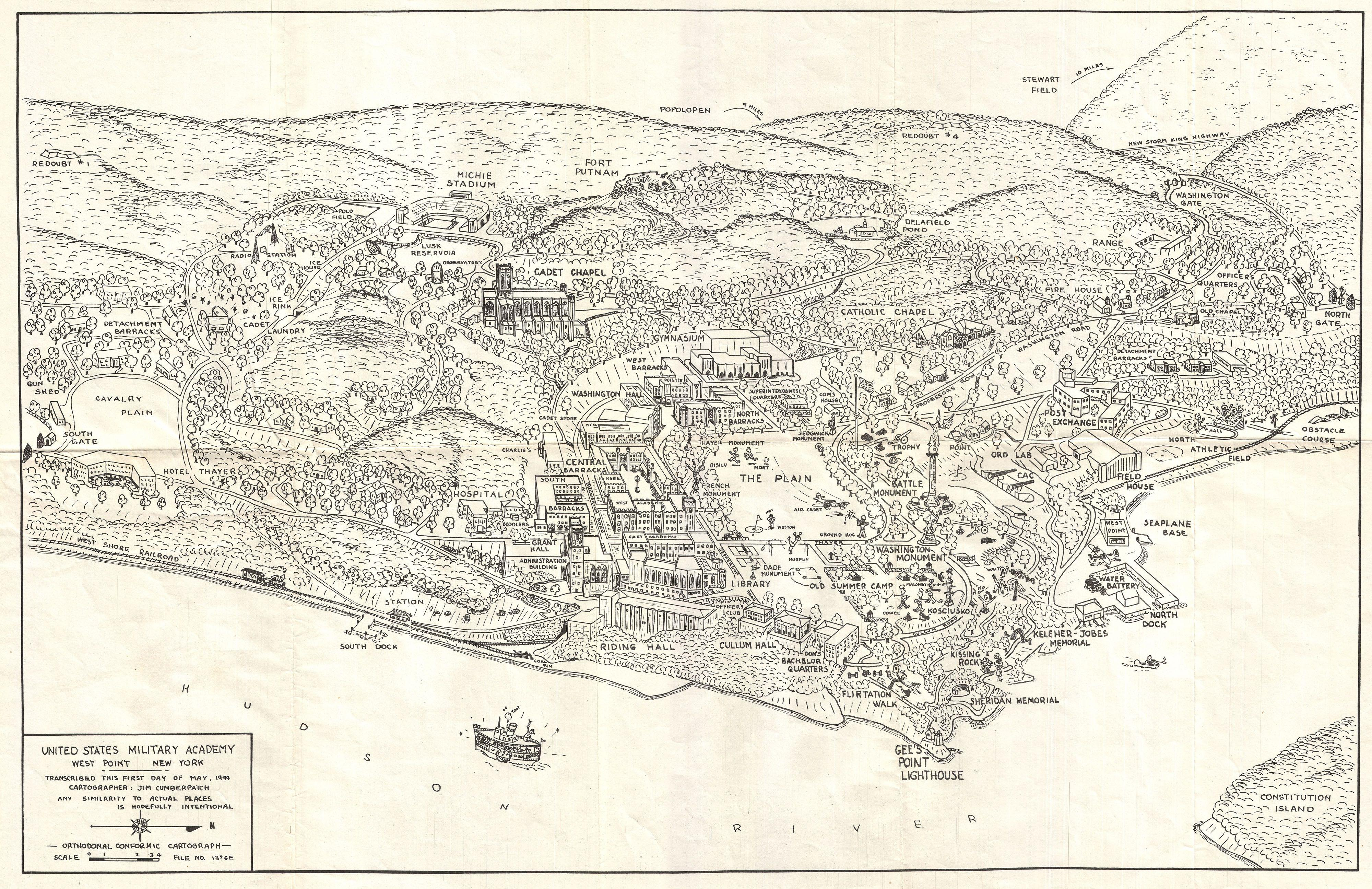 File 1944 Cumberpatch View Or Map Of West Point Military Academy