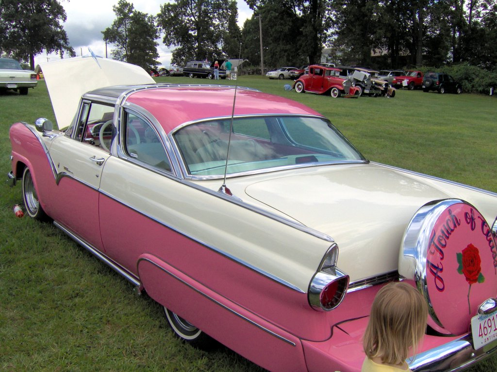 File 1955 Ford Crown Victoria Skyliner Rear Jpg
