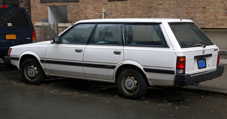 File 1986 Subaru Dl Wagon Left Rear Jpg Wikimedia Commons