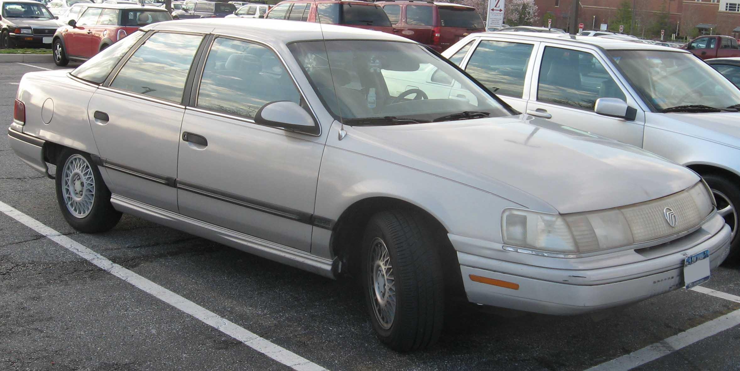 1990 Ford Taurus >> File:1st-Mercury-Sable-sedan.jpg - Wikimedia Commons