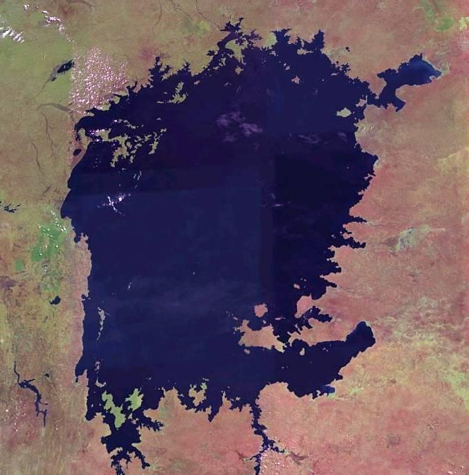 lago Victoria desde el espacio