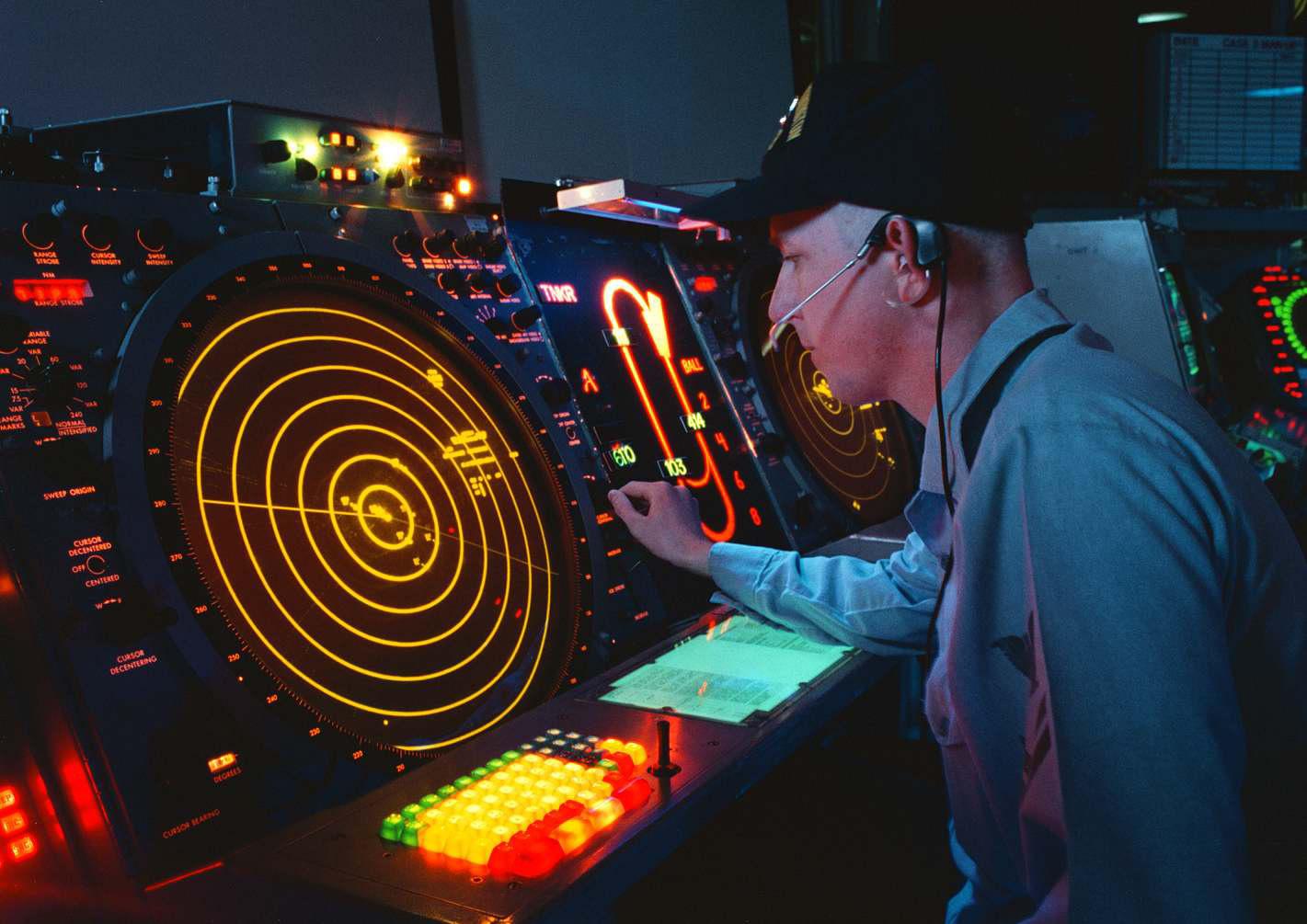 Bildschirm einer Radarüberwachung - Quelle: WikiCommons