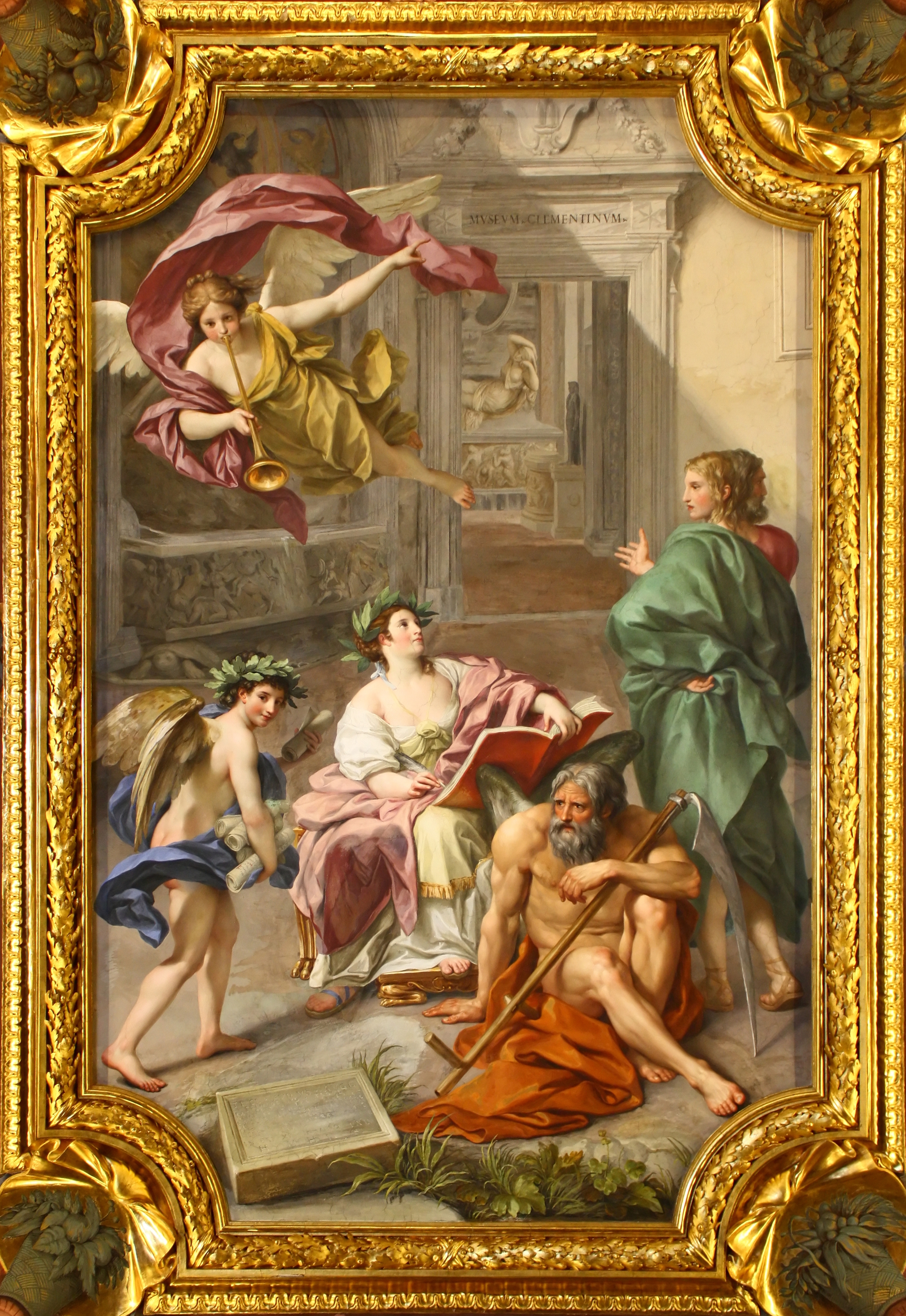 File anton raphael mengs the triumph of history over time for Camera dei