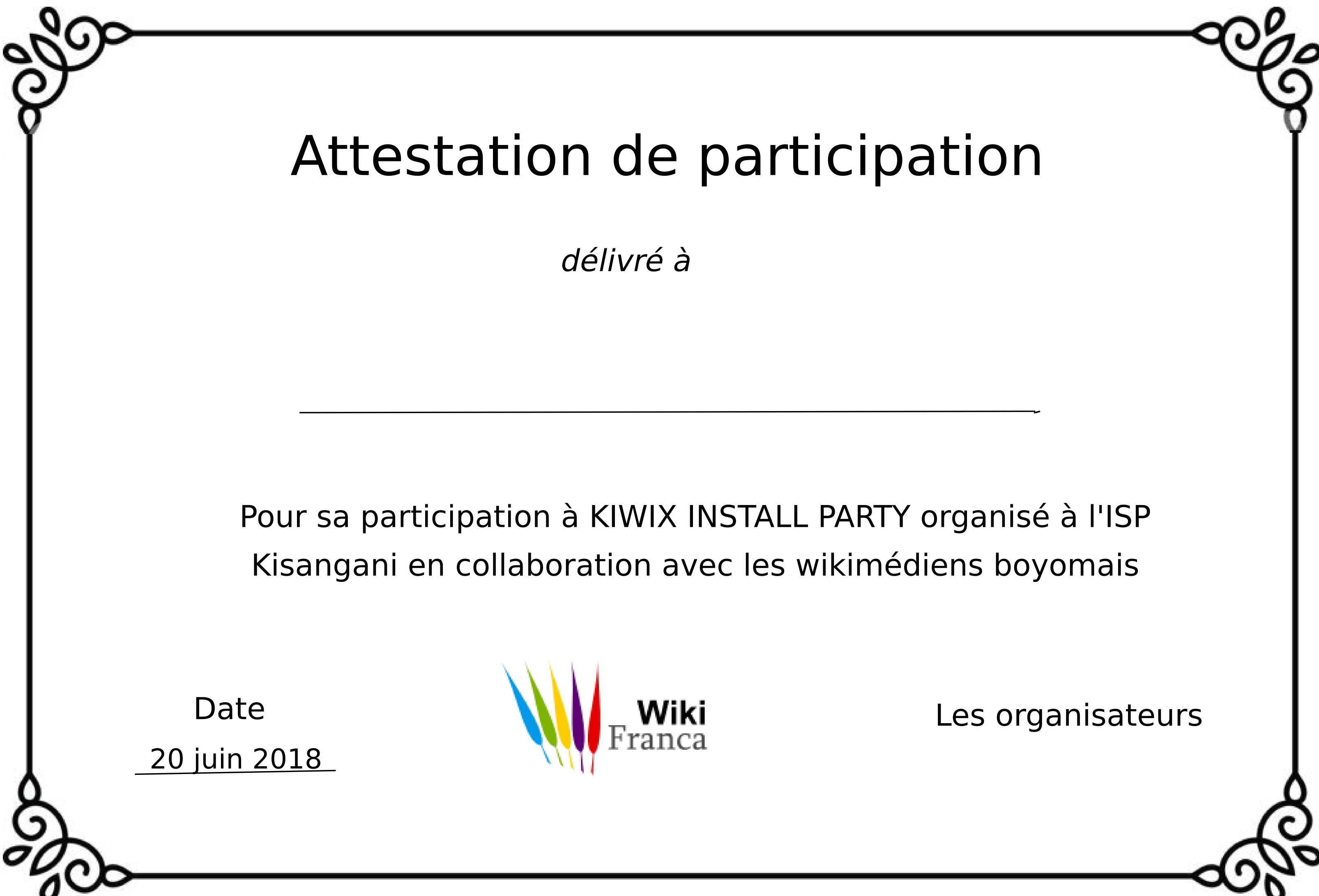 File Attestation De Participation Kiwix Install Party Png Wikimedia Commons