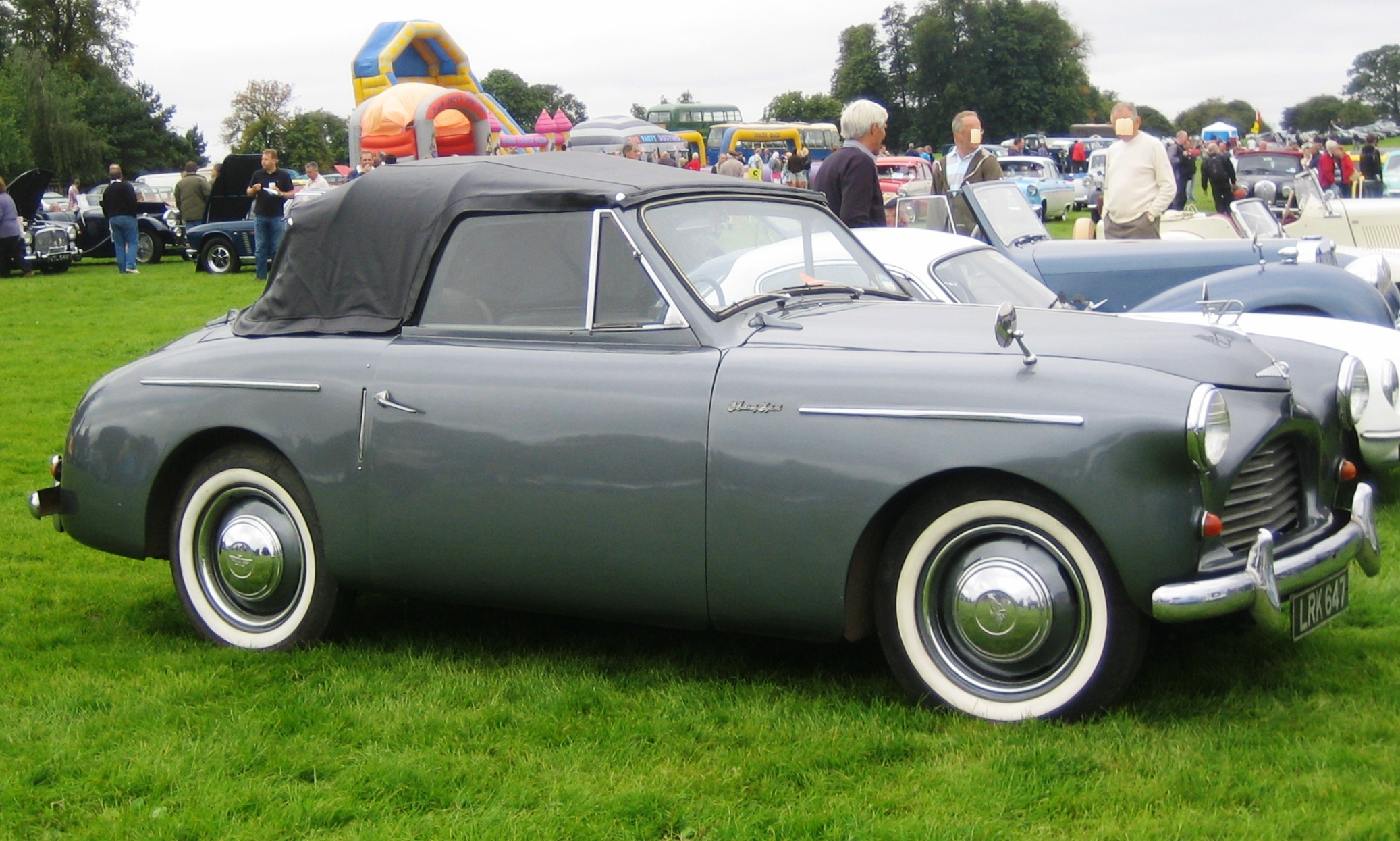 Aluminum bodied Austin A40 Roadster circa 1951.  Image care of Charles01 via Wikipedia