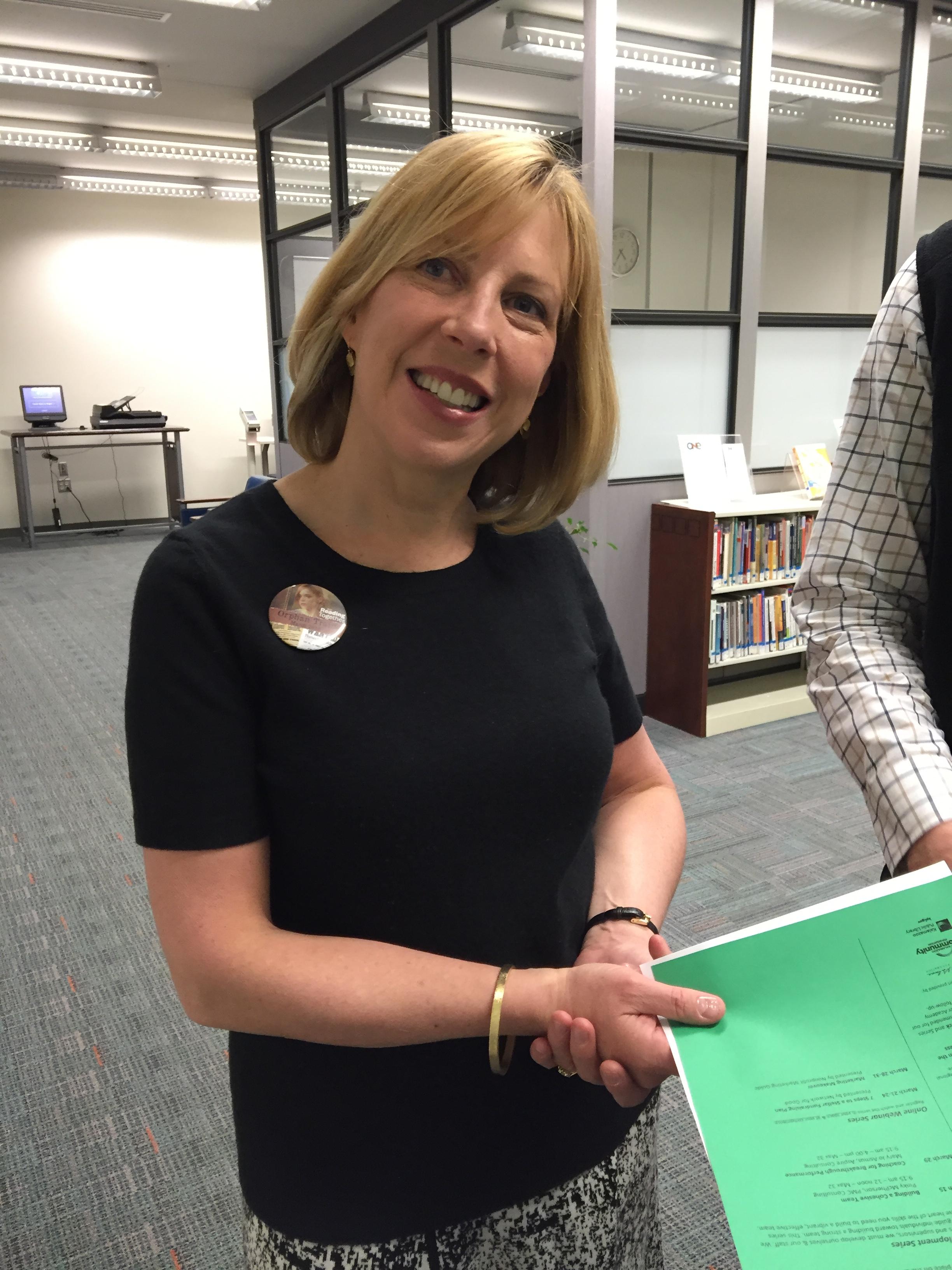 Baker Kline at the Kalamazoo Public Library in 2016.