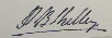 Signature de Percy Bysshe Shelley
