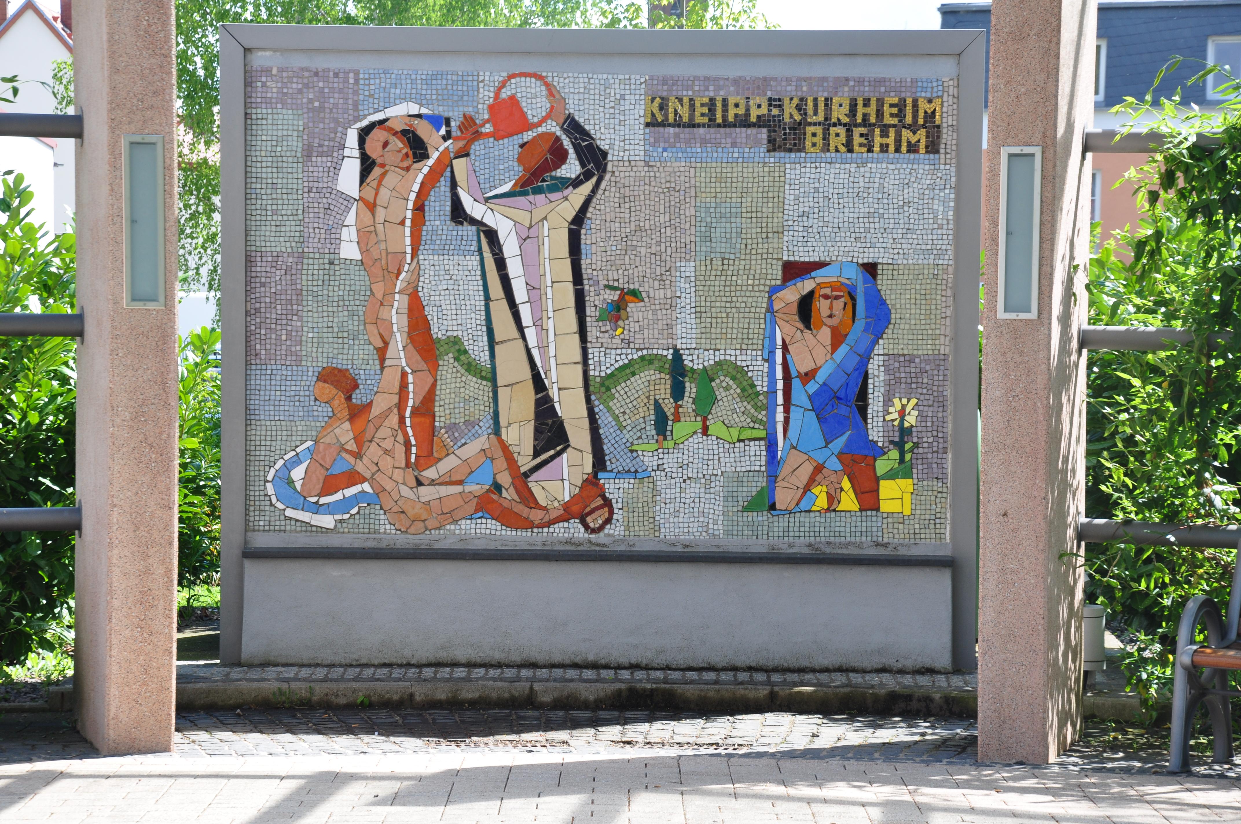 File:Bad Bergzabern Mosaik Kneipp Kurheim Am Kurpark