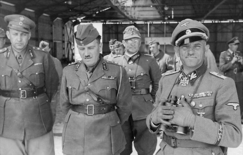Dietrich with Greek generals