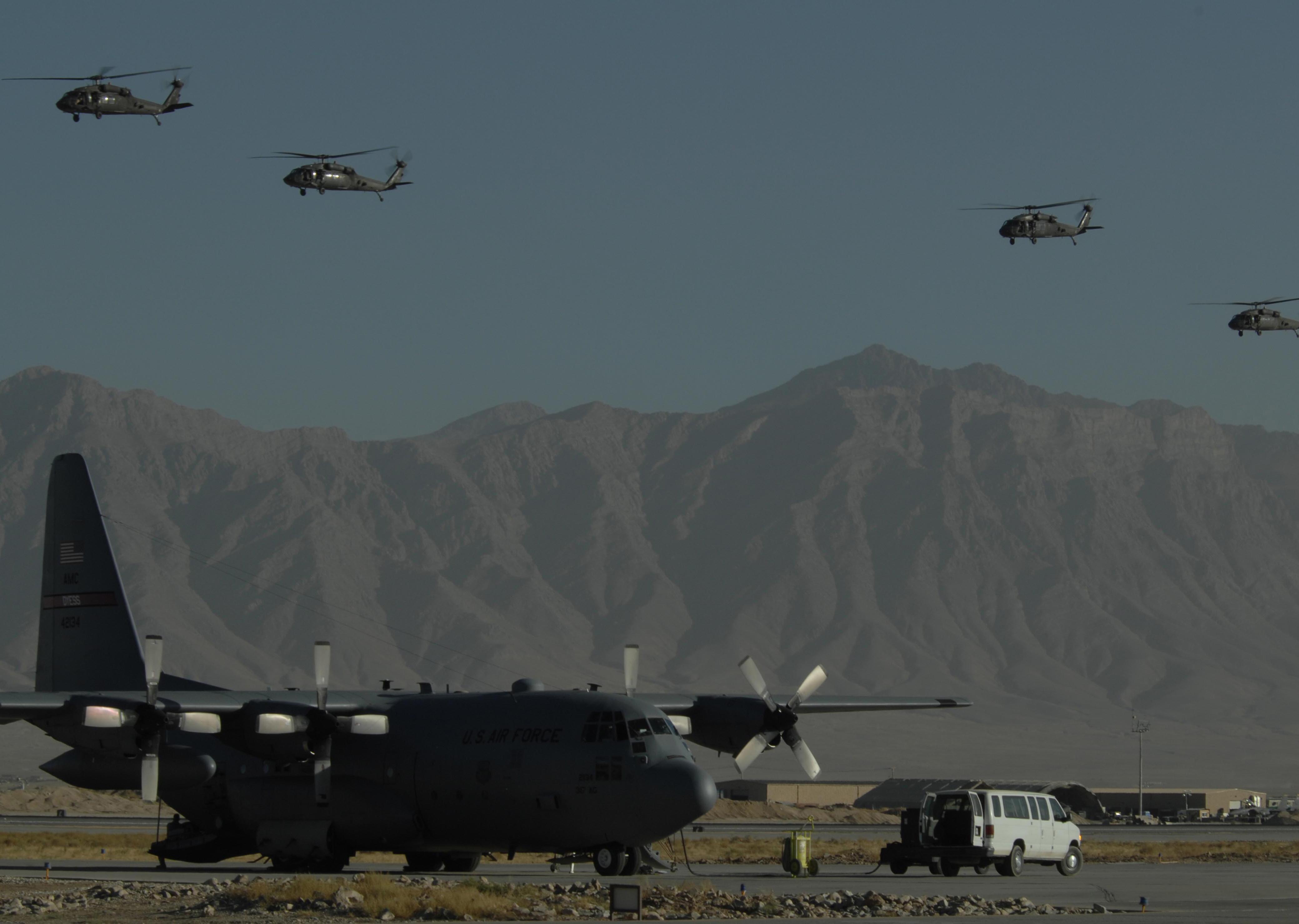 Bagram Air Force Base at Bagram Air Base.jpg